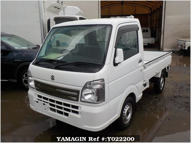 It is a picture of the white suzuki carry truck in 2017,Sub Photo 1 Stock No.Y022200