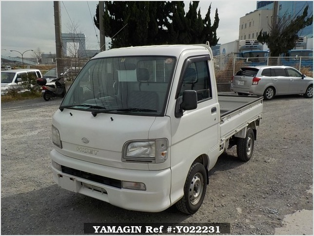 It is a picture of the white daihatsu hijet truck in 2003,Sub Photo 1 Stock No.Y022231