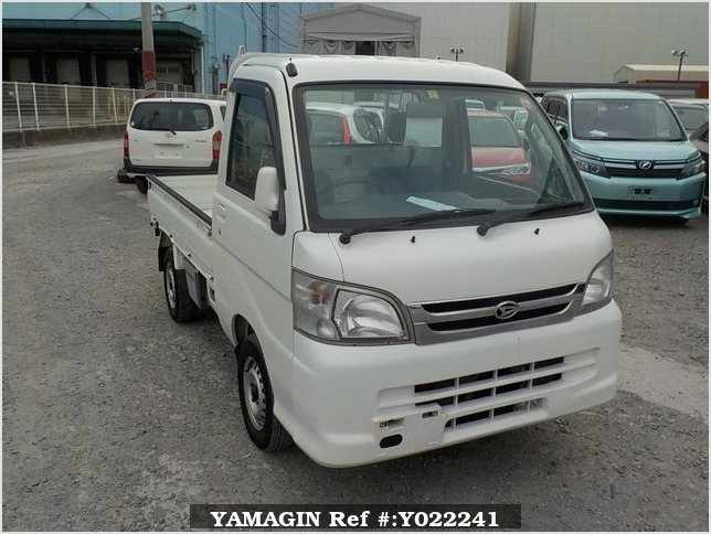 It is a picture of the white daihatsu hijet truck in 2005,Sub Photo 0 Stock No.Y022241