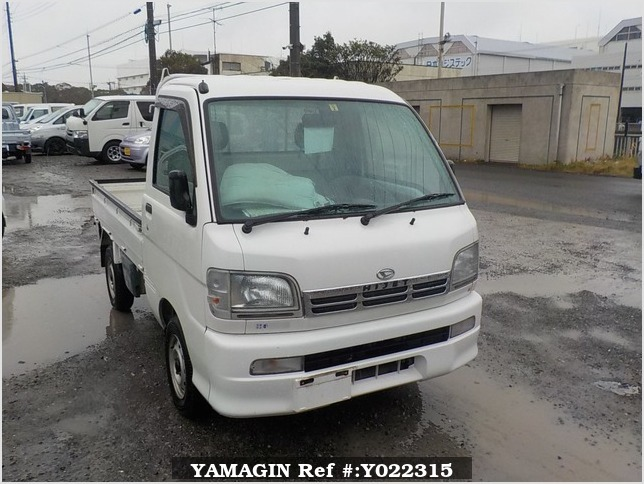 It is a picture of the white daihatsu hijet truck in 1999,Sub Photo 0 Stock No.Y022315