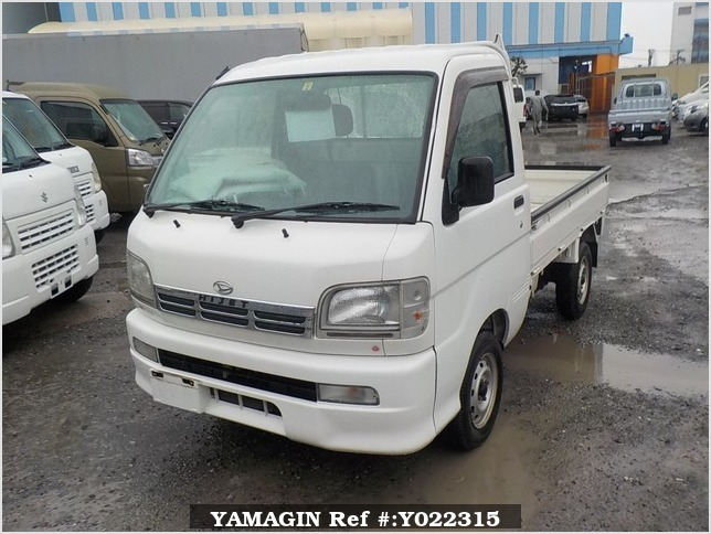 It is a picture of the white daihatsu hijet truck in 1999,Sub Photo 1 Stock No.Y022315