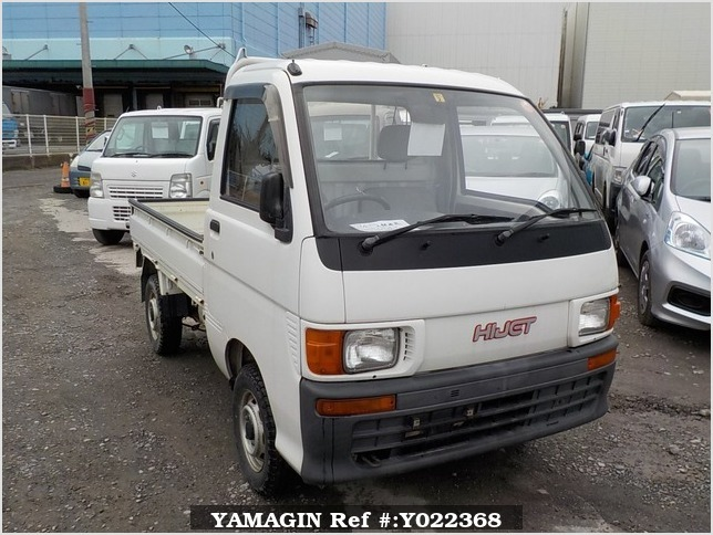 It is a picture of the white daihatsu hijet truck in 1995,Sub Photo 0 Stock No.Y022368