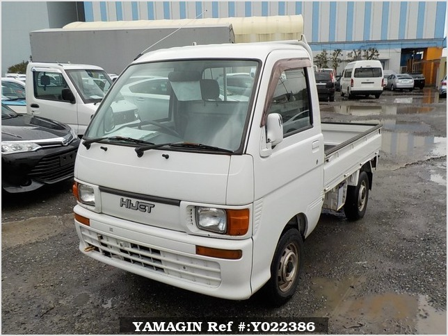 It is a picture of the white daihatsu hijet truck in 1998,Sub Photo 1 Stock No.Y022386