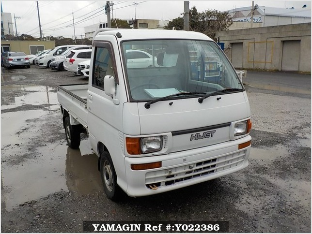 It is a picture of the white daihatsu hijet truck in 1998,Sub Photo 0 Stock No.Y022386