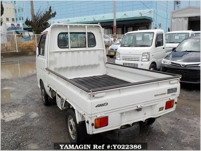 It is a picture of the white daihatsu hijet truck in 1998,Sub Photo 3 Stock No.Y022386