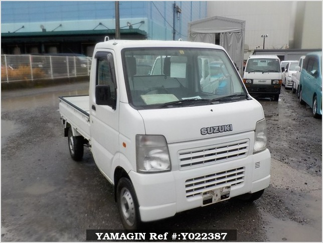 It is a picture of the white suzuki carry truck in 2009,Sub Photo 0 Stock No.Y022387
