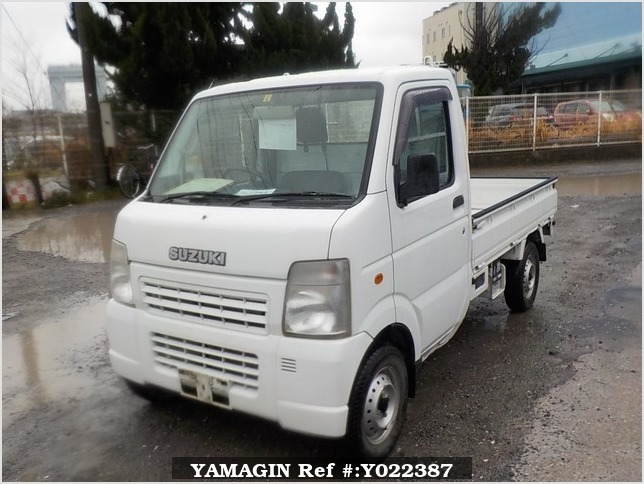 It is a picture of the white suzuki carry truck in 2009,Sub Photo 1 Stock No.Y022387