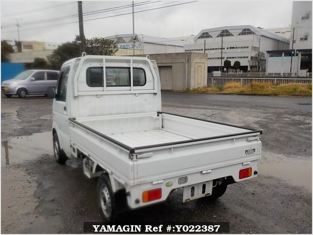 It is a picture of the white suzuki carry truck in 2009,Sub Photo 3 Stock No.Y022387