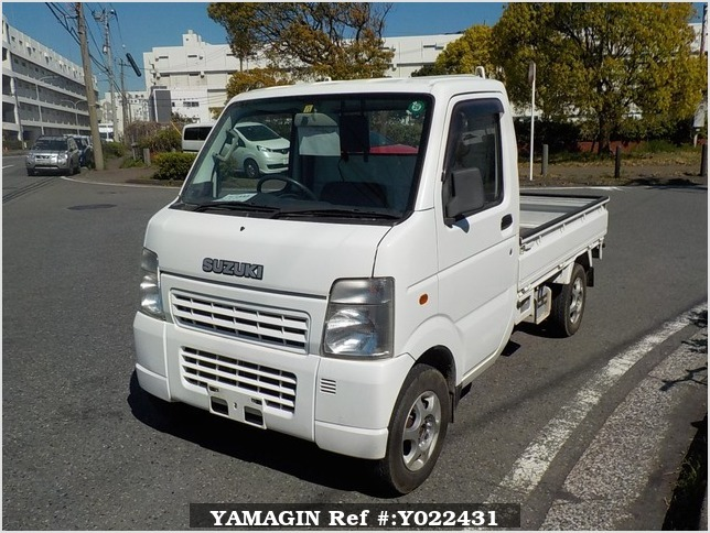 It is a picture of the white suzuki carry truck in 2005,Sub Photo 1 Stock No.Y022431