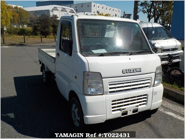 It is a picture of the white suzuki carry truck in 2005,Sub Photo 0 Stock No.Y022431