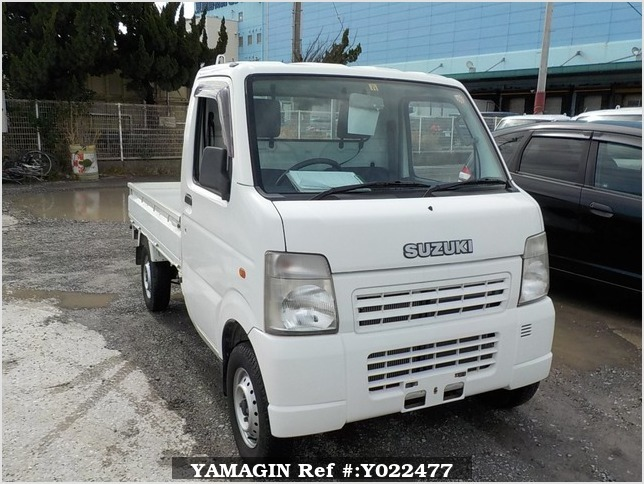 It is a picture of the white suzuki carry truck in 2004,Sub Photo 0 Stock No.Y022477