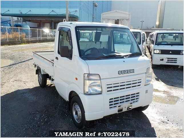 It is a picture of the white suzuki carry truck in 2006,Sub Photo 0 Stock No.Y022478
