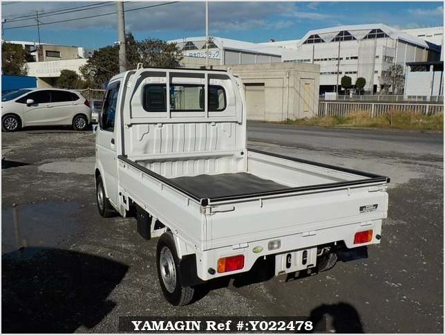 It is a picture of the white suzuki carry truck in 2006,Sub Photo 3 Stock No.Y022478