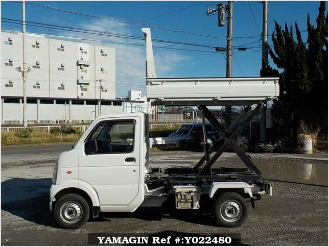 It is a picture of the white suzuki carry scissors dump in 2009,Sub Photo 9 Stock No.Y022480