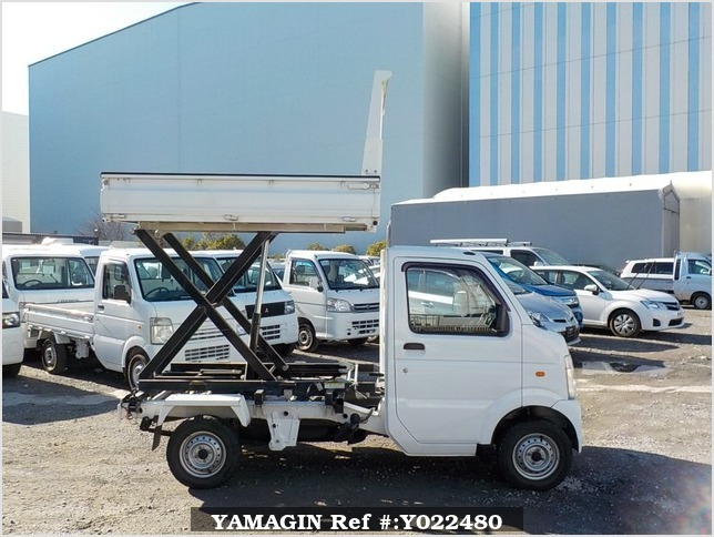 It is a picture of the white suzuki carry scissors dump in 2009,Sub Photo 0 Stock No.Y022480