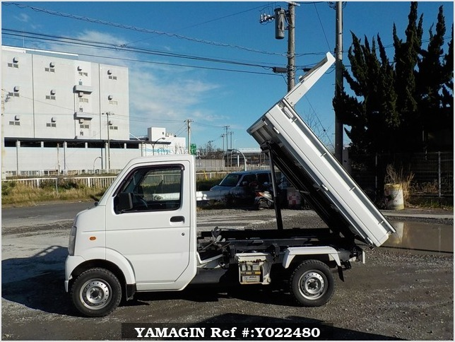 It is a picture of the white suzuki carry scissors dump in 2009,Sub Photo 10 Stock No.Y022480