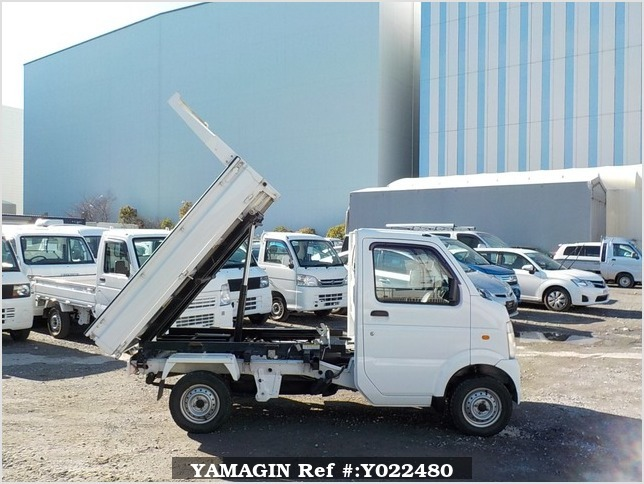 It is a picture of the white suzuki carry scissors dump in 2009,Sub Photo 8 Stock No.Y022480