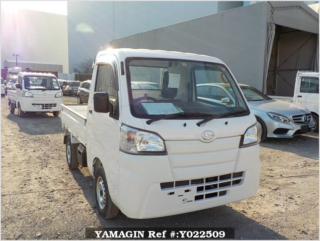 It is a picture of the white daihatsu hijet dump in 2019,Sub Photo 1 Stock No.Y022509