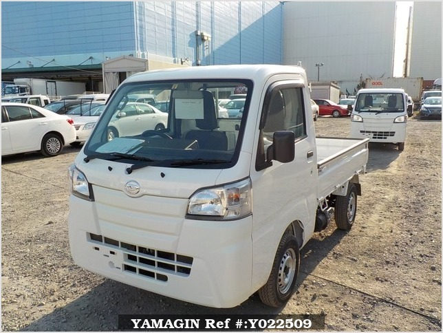 It is a picture of the white daihatsu hijet dump in 2019,Sub Photo 2 Stock No.Y022509