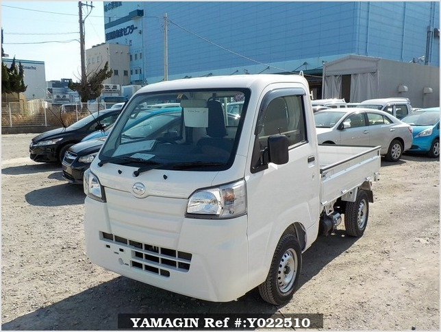 It is a picture of the white daihatsu hijet dump in 2019,Sub Photo 2 Stock No.Y022510