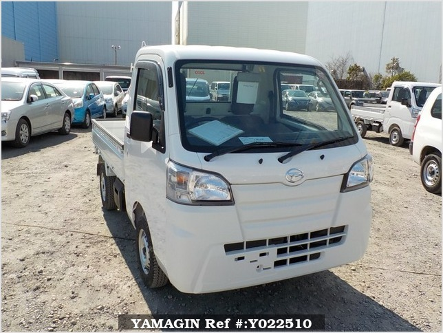 It is a picture of the white daihatsu hijet dump in 2019,Sub Photo 1 Stock No.Y022510