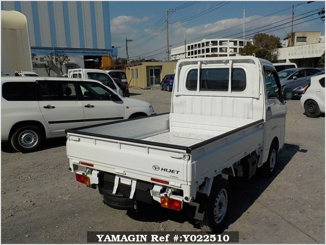 It is a picture of the white daihatsu hijet dump in 2019,Sub Photo 4 Stock No.Y022510