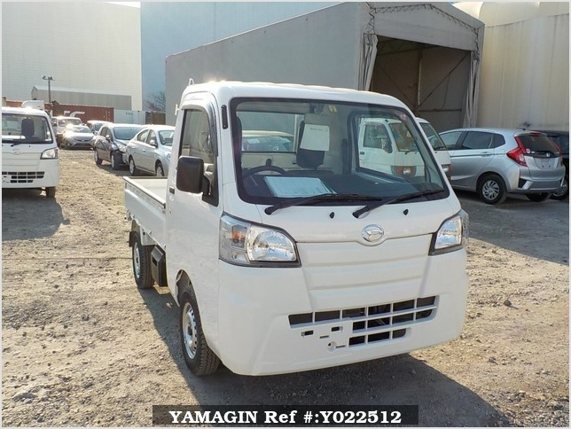 It is a picture of the white daihatsu hijet dump in 2019,Sub Photo 1 Stock No.Y022512