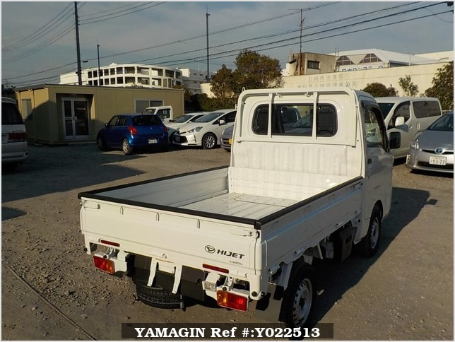 It is a picture of the white daihatsu hijet dump in 2019,Sub Photo 4 Stock No.Y022513