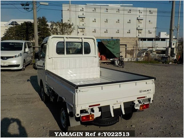 It is a picture of the white daihatsu hijet dump in 2019,Sub Photo 3 Stock No.Y022513