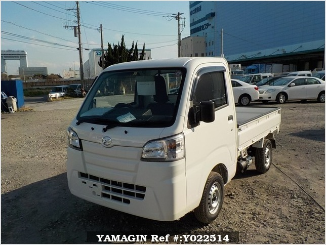 It is a picture of the white daihatsu hijet dump in 2019,Sub Photo 2 Stock No.Y022514