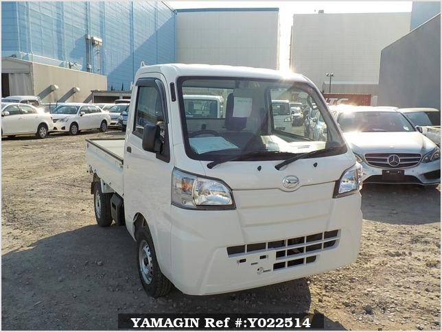 It is a picture of the white daihatsu hijet dump in 2019,Sub Photo 1 Stock No.Y022514
