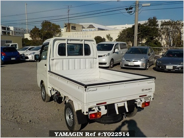 It is a picture of the white daihatsu hijet dump in 2019,Sub Photo 3 Stock No.Y022514