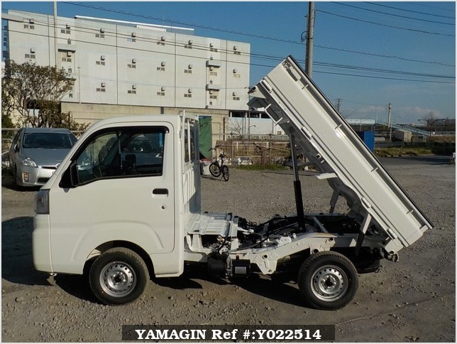 It is a picture of the white daihatsu hijet dump in 2019,Sub Photo 6 Stock No.Y022514