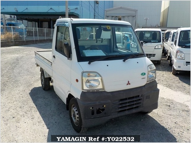 It is a picture of the white mitsubishi minicab  truck in 1999,Sub Photo 0 Stock No.Y022532