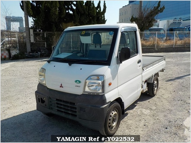 It is a picture of the white mitsubishi minicab  truck in 1999,Sub Photo 1 Stock No.Y022532