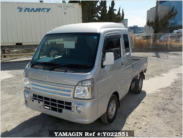 It is a picture of the silver suzuki carry jumbo in 2018,Sub Photo 1 Stock No.Y022551