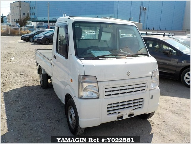 It is a picture of the white suzuki carry  truck in 2010,Sub Photo 0 Stock No.Y022581