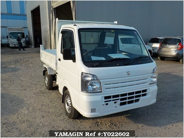 It is a picture of the white suzuki carry dump in 2019,Sub Photo 1 Stock No.Y022602
