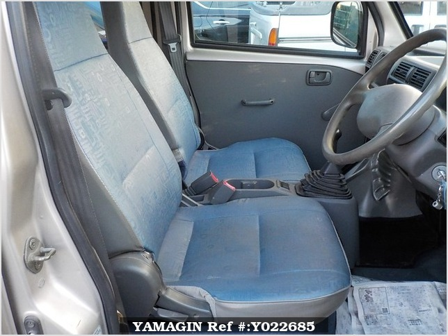 It is a picture of the silver mitsubishi minicab passenger van in 2000,Sub Photo 10 Stock No.Y022685