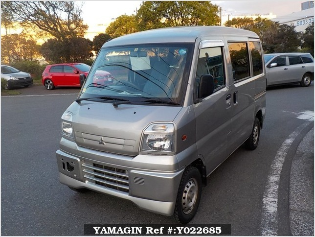 It is a picture of the silver mitsubishi minicab passenger van in 2000,Sub Photo 1 Stock No.Y022685
