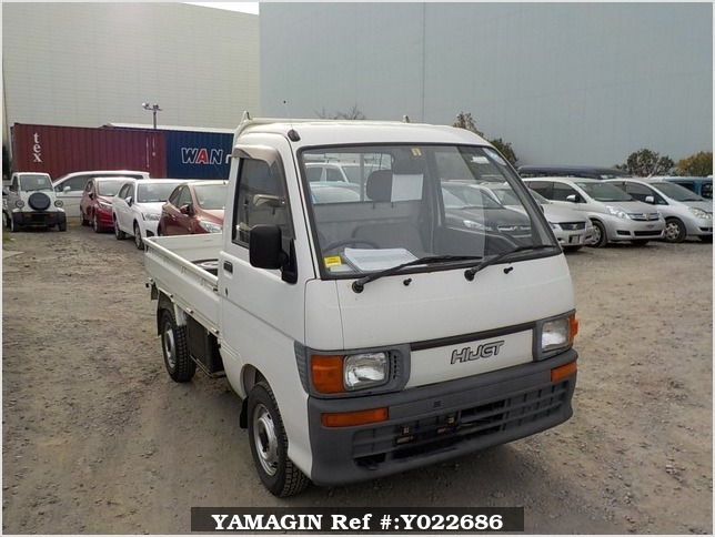 It is a picture of the white daihatsu hijet truck in 1995,Sub Photo 0 Stock No.Y022686