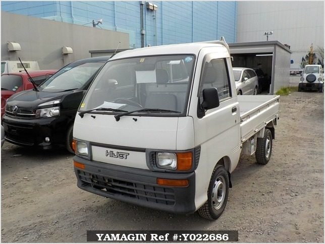 It is a picture of the white daihatsu hijet truck in 1995,Sub Photo 1 Stock No.Y022686