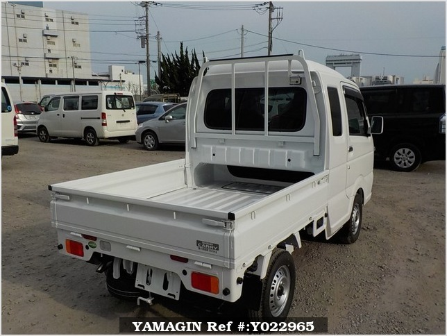 It is a picture of the white suzuki carry jumbo in 2018,Sub Photo 2 Stock No.Y022965