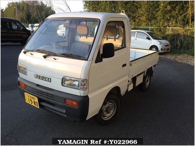 It is a picture of the white suzuki carry truck in 1993,Sub Photo 1 Stock No.Y022966