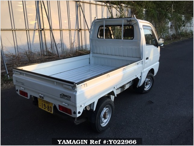 It is a picture of the white suzuki carry truck in 1993,Sub Photo 2 Stock No.Y022966