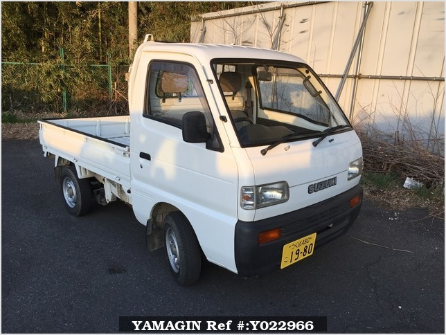 It is a picture of the white suzuki carry truck in 1993,Sub Photo 0 Stock No.Y022966