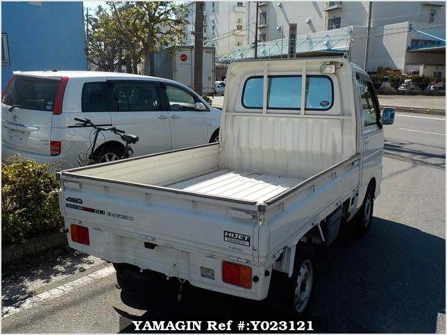 It is a picture of the white daihatsu hijet truck in 2001,Sub Photo 2 Stock No.Y023121