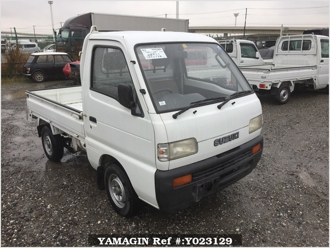 It is a picture of the white suzuki carry truck in 1994,Sub Photo 0 Stock No.Y023129