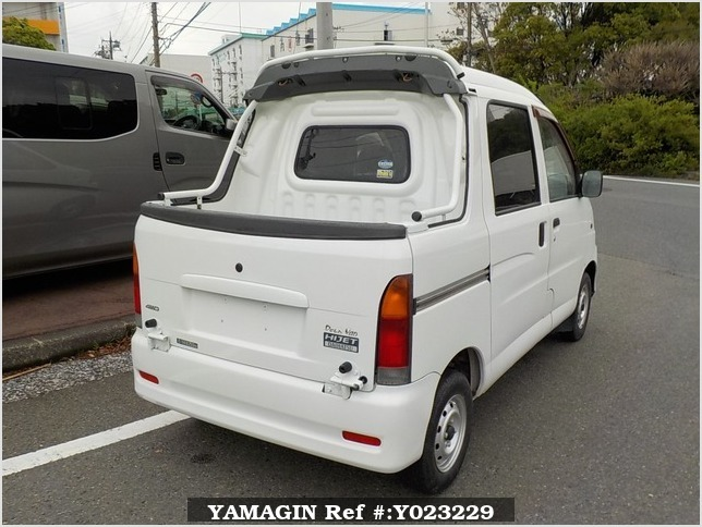 It is a picture of the white daihatsu hijet deck van in 2004,Sub Photo 2 Stock No.Y023229