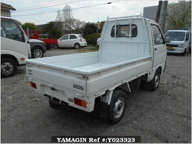 It is a picture of the white daihatsu hijet truck in 1993,Sub Photo 2 Stock No.Y023323